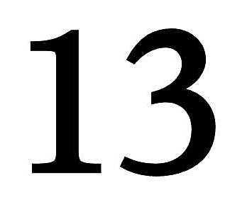 13 - чертова дюжина - тринадцать