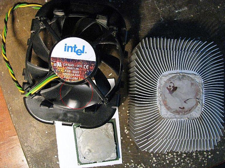 Процессор и радиатор