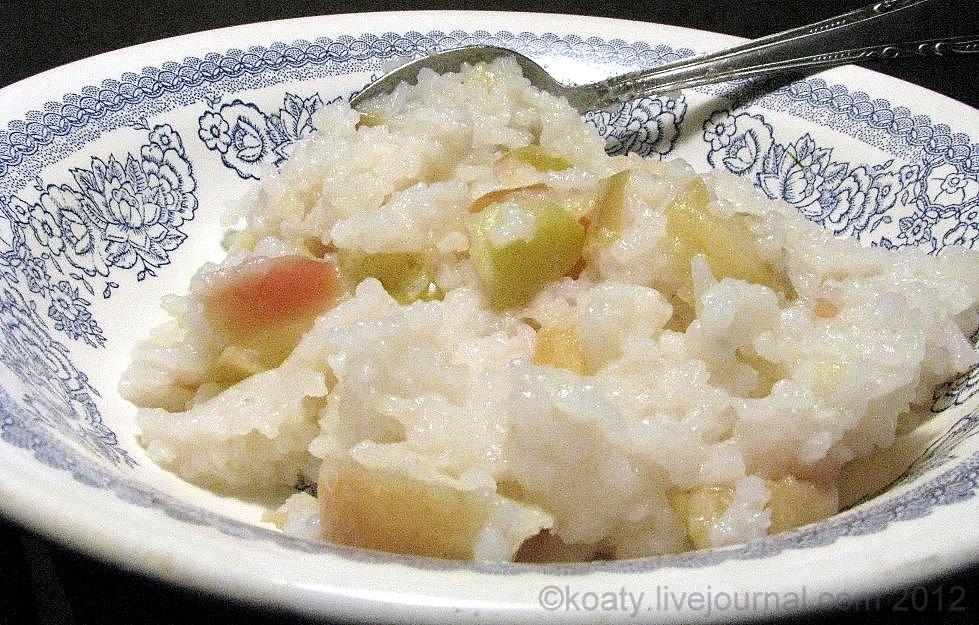 Рисовая каша с яблоками