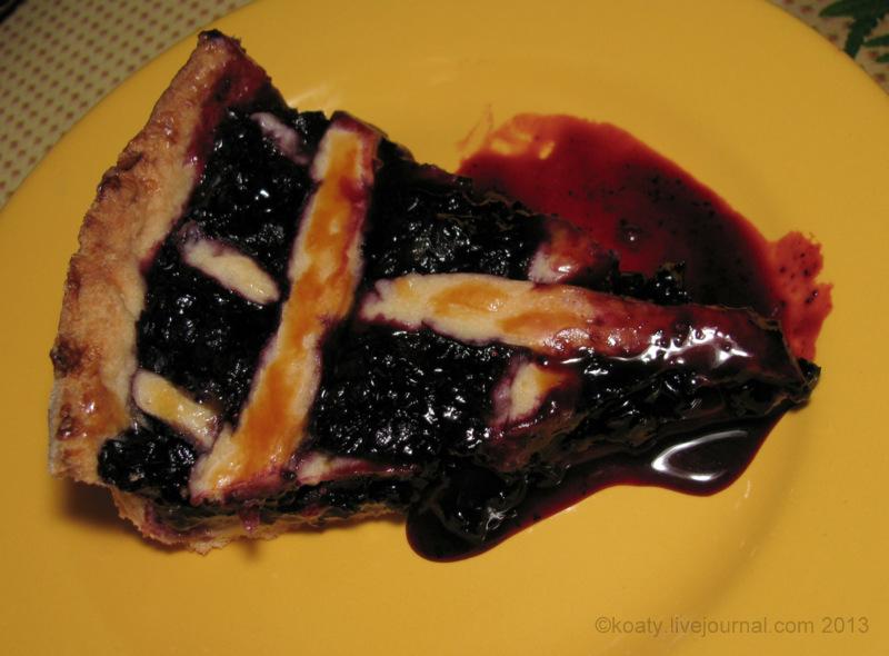 Черничный пирог.