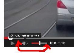 Включение звука на youtube
