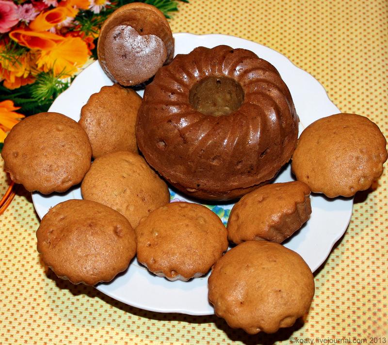 Рецепт бисквитных кексов в силиконовых формочках