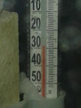 термометр за окном