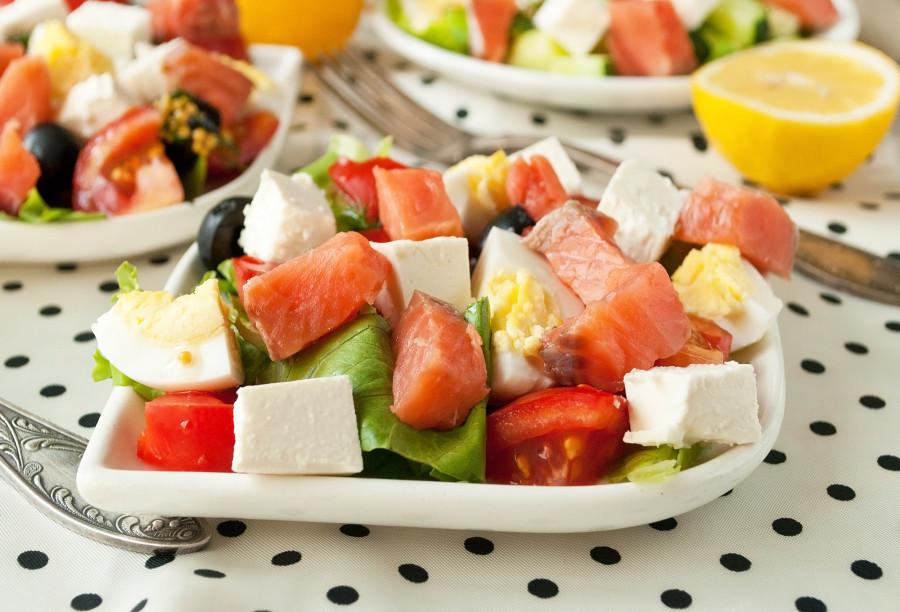 Салат из соленой горбуши