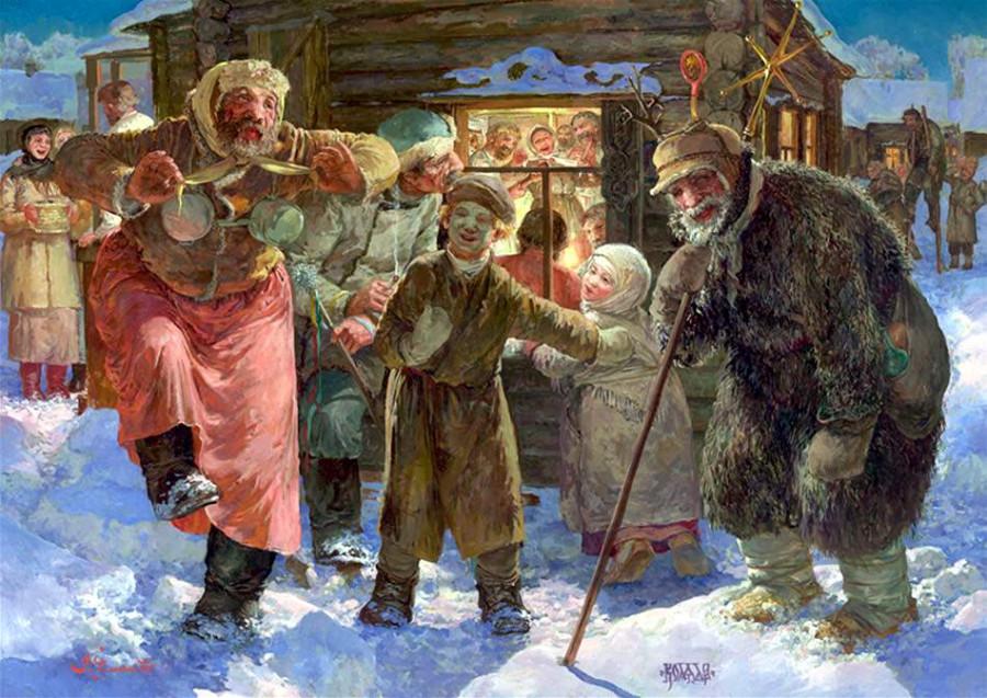 Как встречали Новый год и Рождество на Руси и почему Пётр I перенёс Новый  год на 1 января.