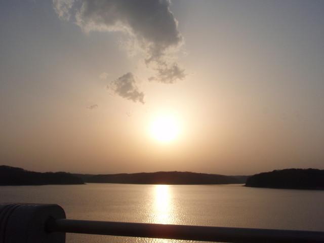 Sunset over Sayama-ko