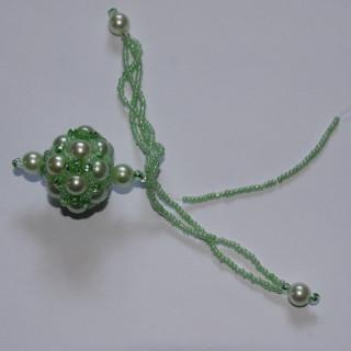 цепочка для кулона бисероплетение бисер