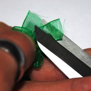 бисер, сережки с бантиком, схема бисероплетения
