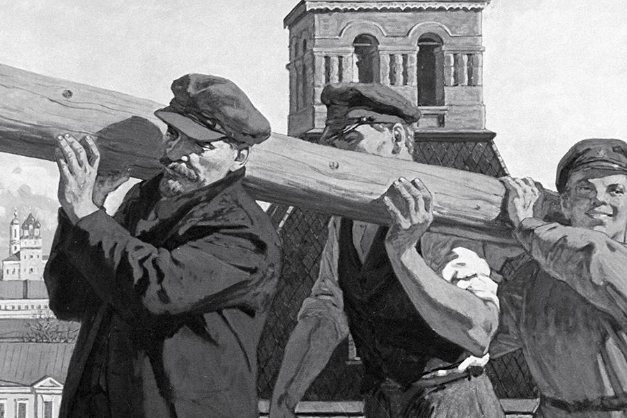 В.И. Ленин на субботнике