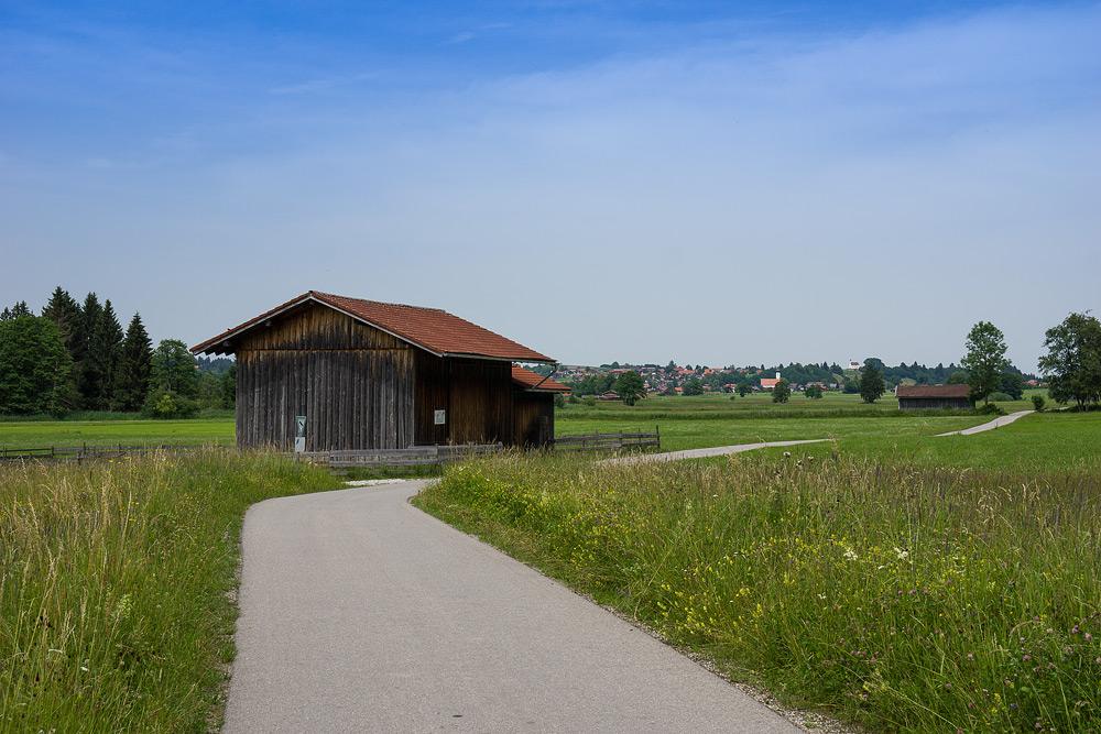 велодорожка Романтическая дорога Бавария