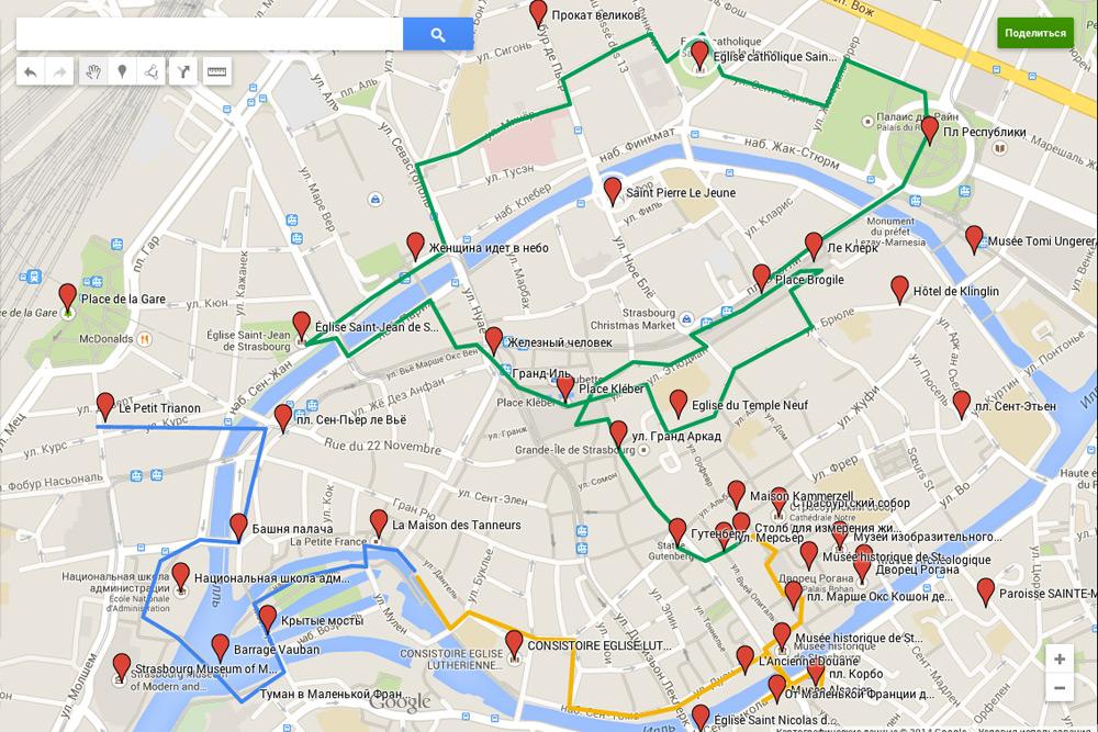 Страсбург-на-карте