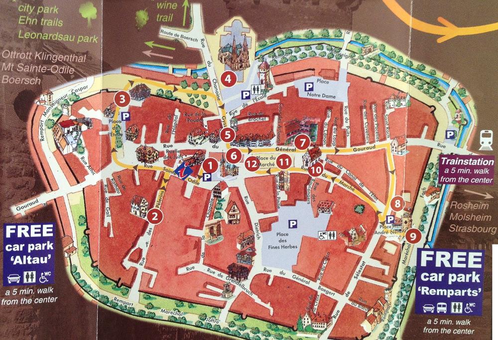 Obernai-tour-map