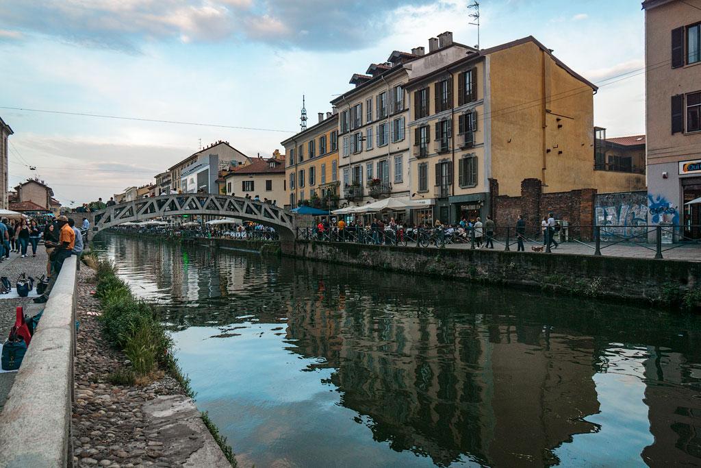 Район каналов Навильи в Милане
