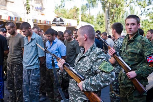 пленные в Донецке 24 августа