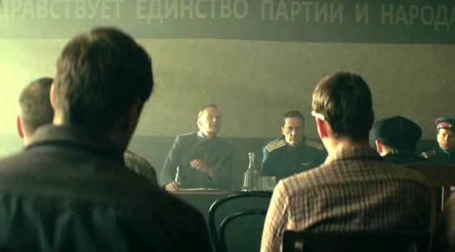 Собрание в отделе в фильме Забытый