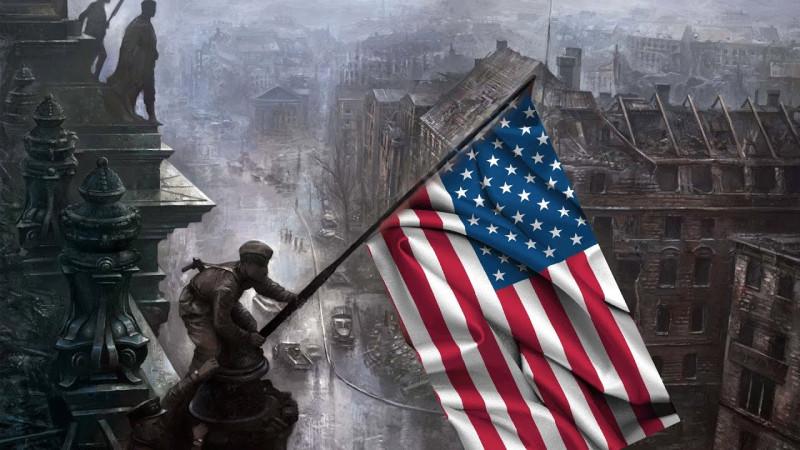 Всё участие СССР во Второй мировой заключалась только в помощи водружения американского флага на Рейхстаг.