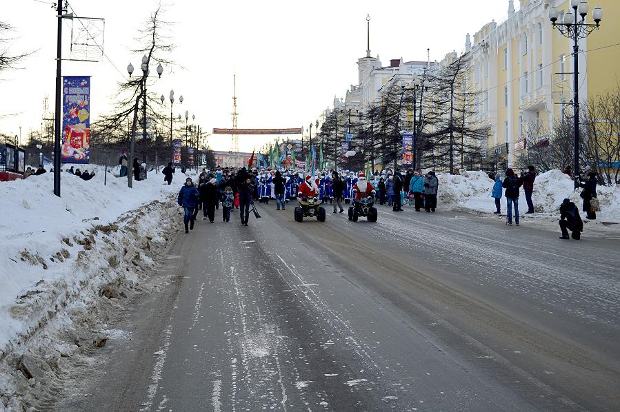 Шествие Дед Морозов. Магадан