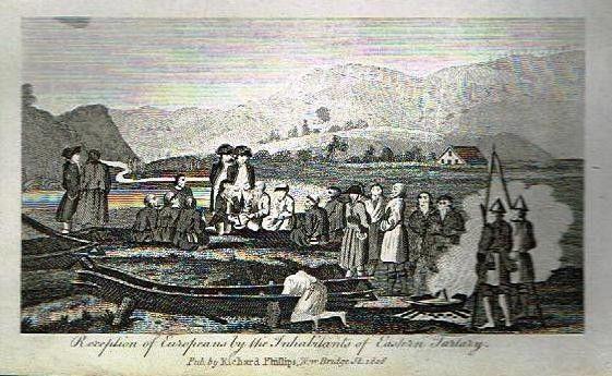 1806 - медная гравировка-европейцы прибыть