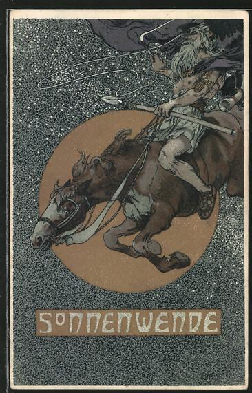 AK-Germane-auf-seinem-Pferd-feiert-das-Sonnenwenden-Fest