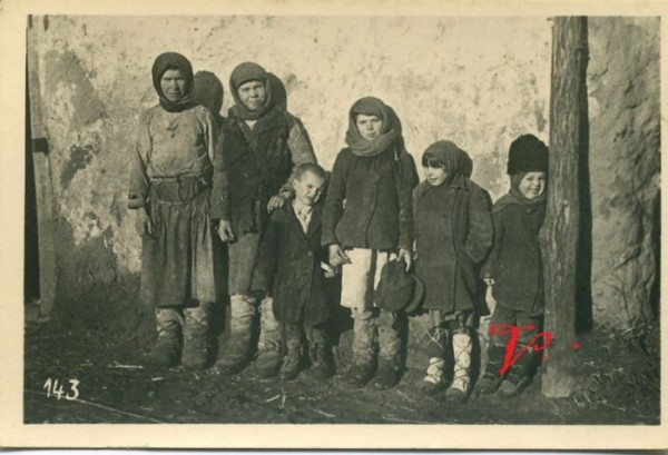 Крестьянские дети, Россия, 40-е годы ХХ в.