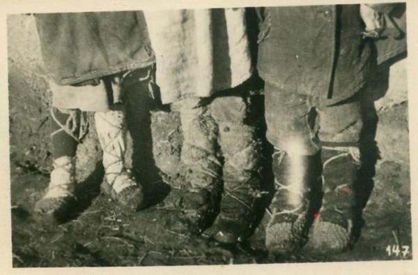 Обувь крестьянина, Россия, 40-е годы ХХ в.
