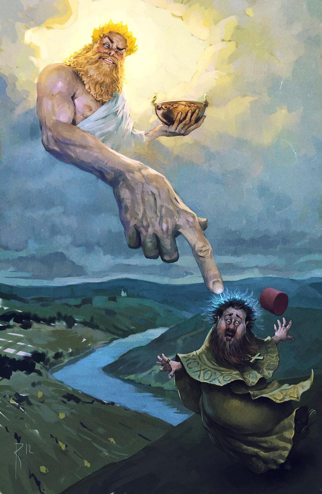 Зевс заряжает попа Вальдамар Козак