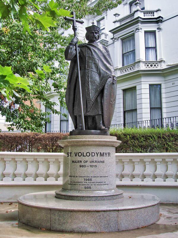 Памятник  Вальдамару в Лондоне