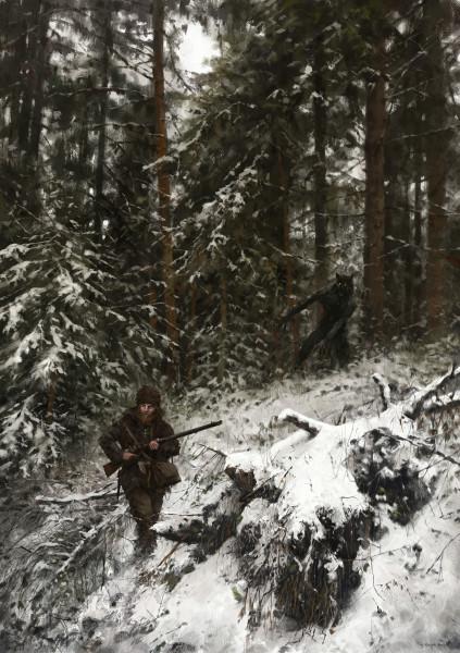 jakub-rozalski-wolfpack-1863-hunt-or-be-hunteds