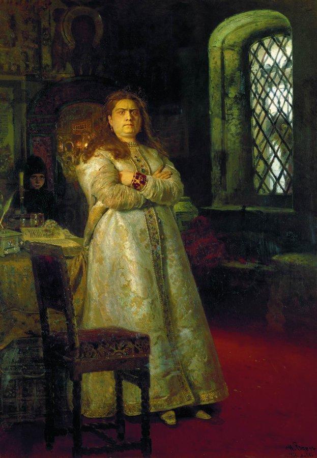 Repin_1879_Tsarevna_Sofya_Alekseevna_posle_zaklyucheniya_in_1689