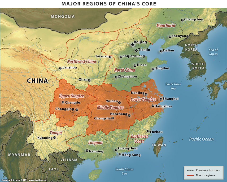 Stratfor_2013_04_01_Geopolitics_of_Yangtze_China's_Core_major_regions