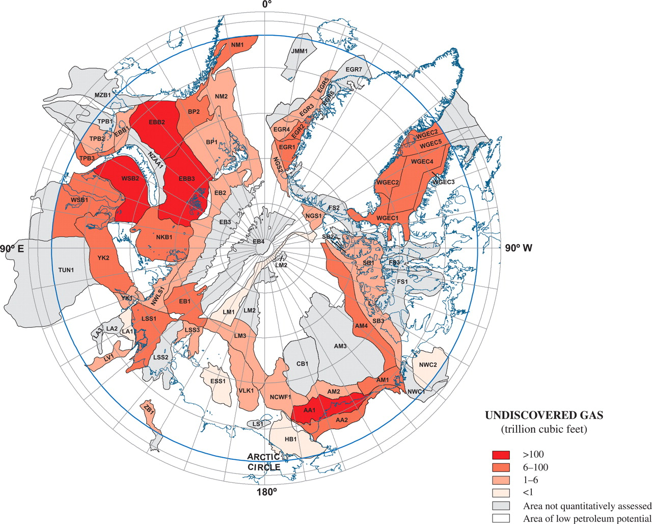 map_Arctic_borders_hydrocarbon_gas_undiscovered_resources_2009