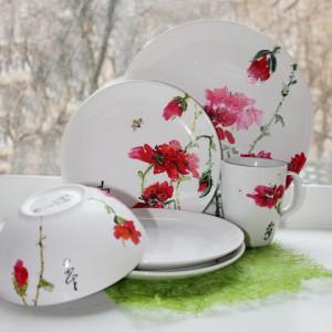 Роспись посуды акрилом у-син