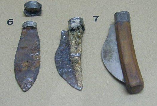 древнеримский складной нож