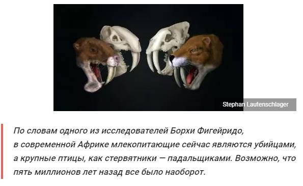 Оказалось, что не все саблезубые являлись хищниками