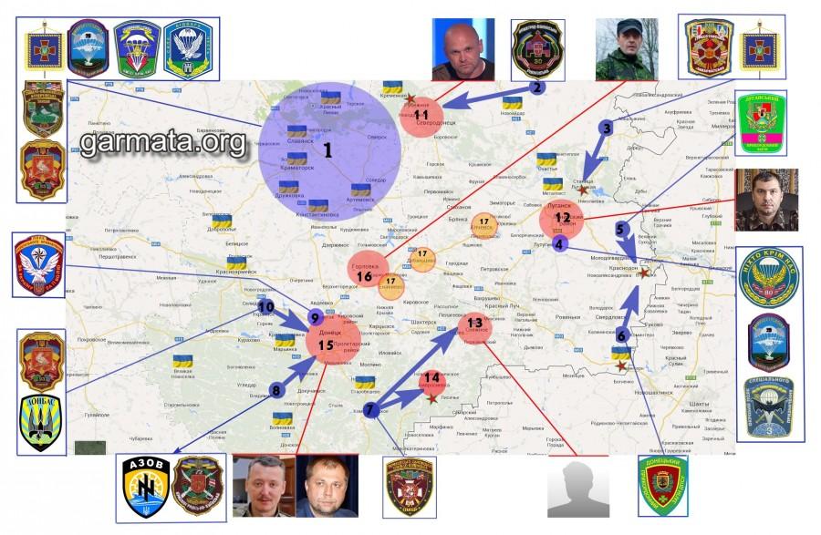 Описание карты АТО в Донецкой