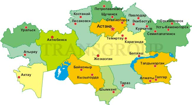 map kazahstan
