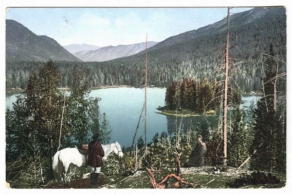 Нижнее озеро в долине реки Арасан.