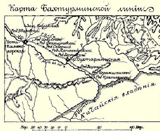 Бухтарминская линия.
