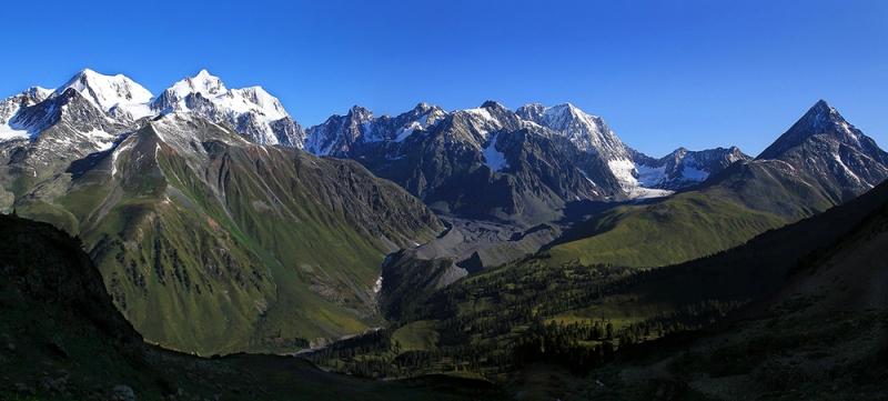 Катунский хребет, Российско-Казахстанская граница.