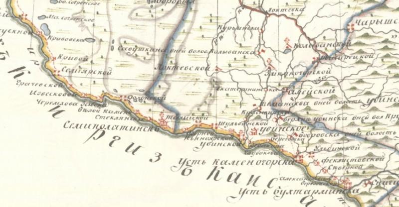Юго-запад Бийского уезда 1821 г.