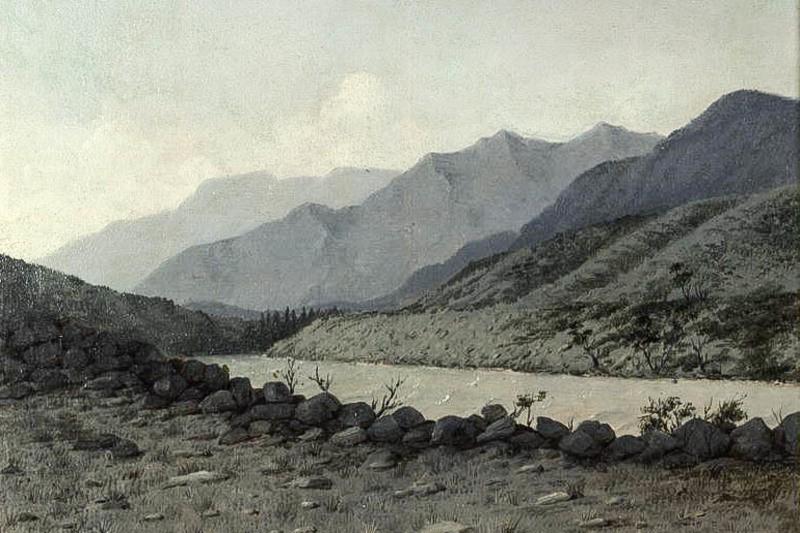 Иртыш между Усть-Каменогорском и Бухтармой 1880-е, рис. П.М. Кошарова