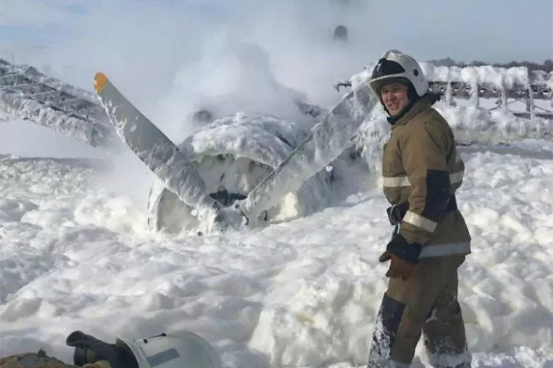 вынужденная посадка Ан-2 в Усть-Каменогорске 26.02.2020