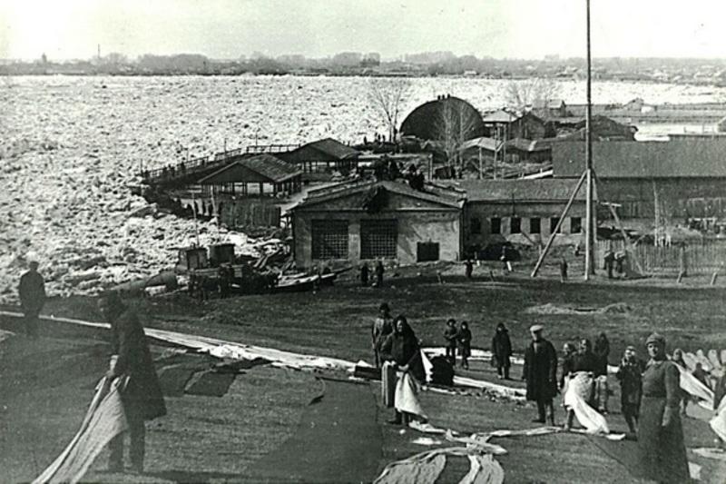 Усть-Каменогорская пристань,апрель 1931