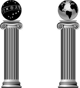 Масонские символы в центре по борьбе с экстремистской идеологией