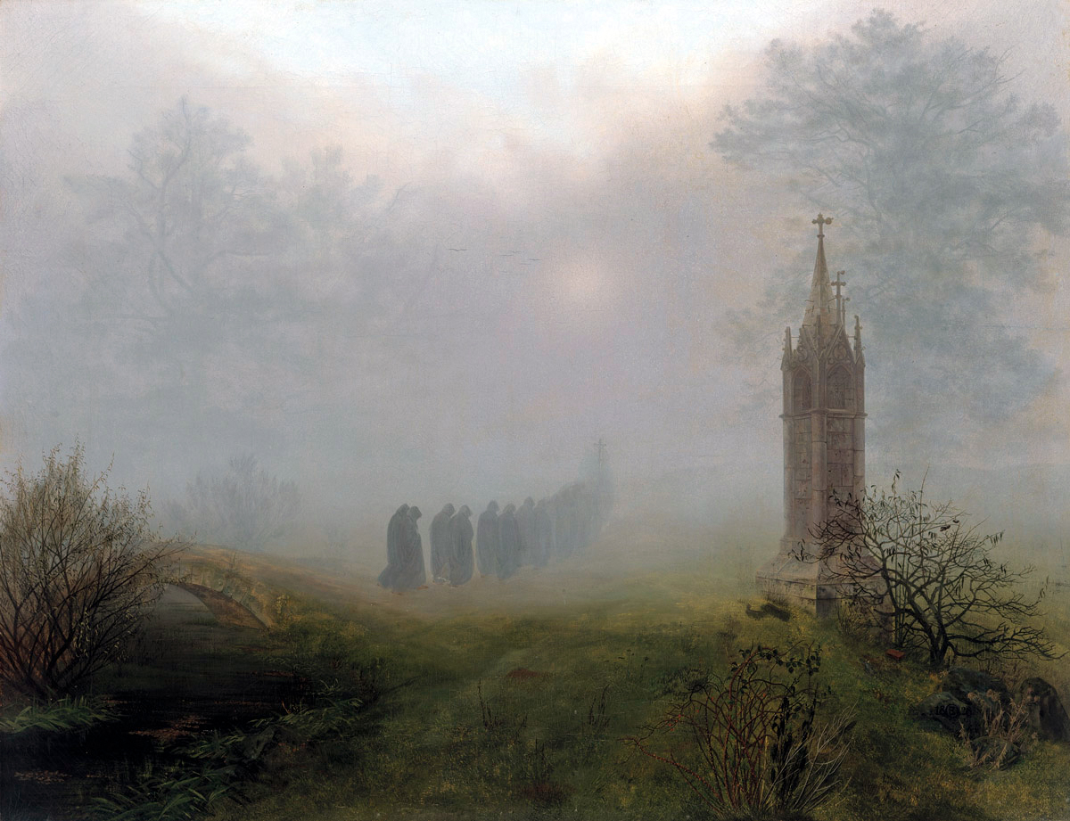 Ernst Ferdinand Oehme Procession In the Fog, 1828
