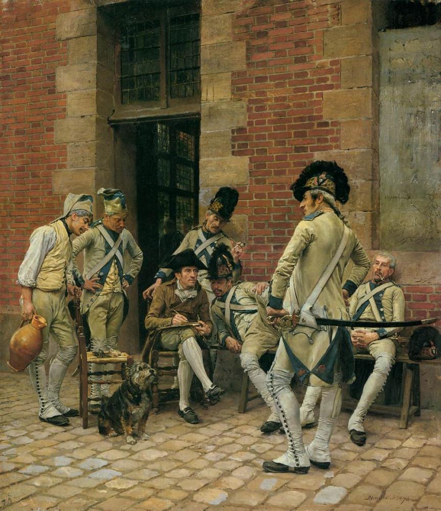 Jean-Louis-Ernest Meissonier. The Portrait of a Sergeant. 1874