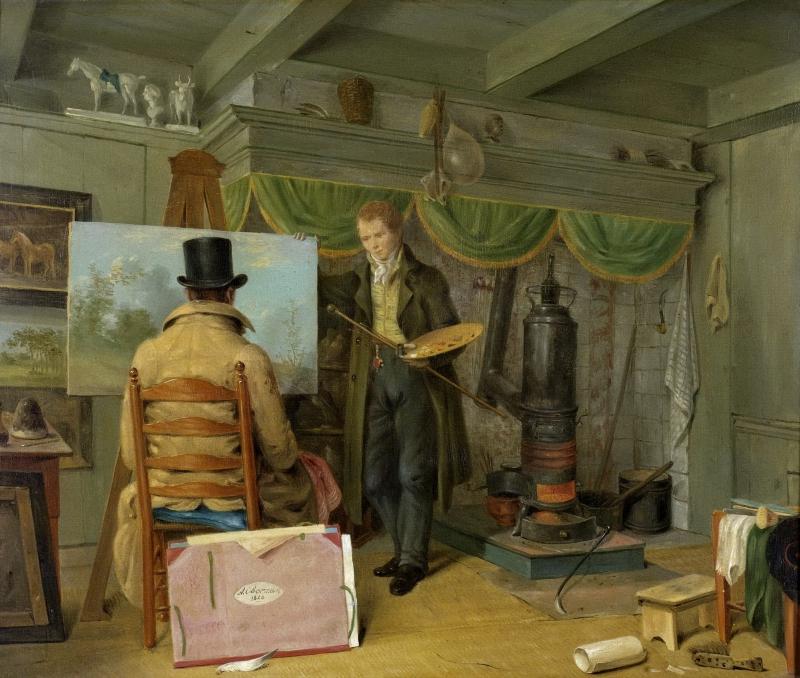 Anthony Oberman (Dutch, 1781-1845) Painter in His Studio. 1820