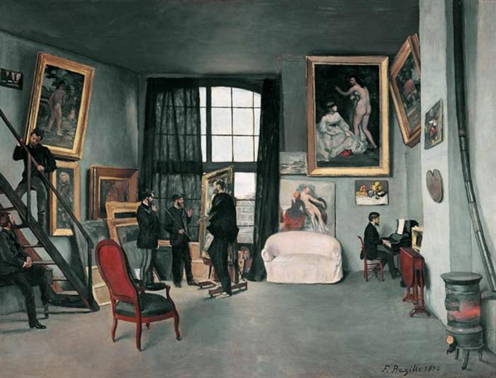 Frédéric Bazille - Das Atelier des Künstlers in der Rue de la Condamine in Paris.