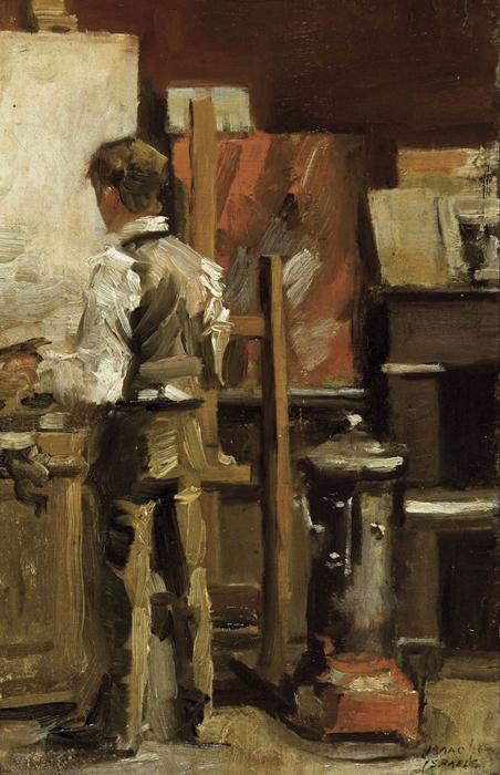 Isaac Israëls (Dutch, 1865-1934), The painter in his studio