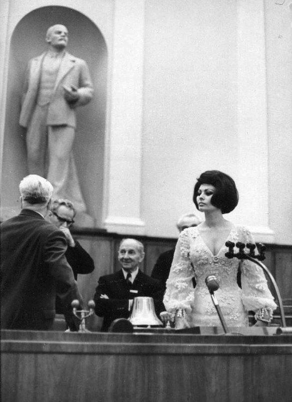 Софи Лорен в Кремле.